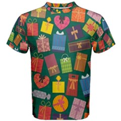Presents Gifts Background Colorful Men s Cotton Tee