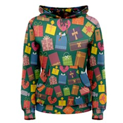 Presents Gifts Background Colorful Women s Pullover Hoodie