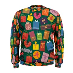 Presents Gifts Background Colorful Men s Sweatshirt
