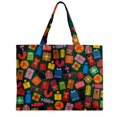 Presents Gifts Background Colorful Zipper Mini Tote Bag