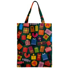 Presents Gifts Background Colorful Zipper Classic Tote Bag