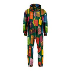Presents Gifts Background Colorful Hooded Jumpsuit (kids)