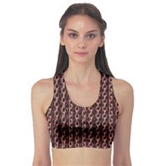 Chain Rusty Links Iron Metal Rust Sports Bra