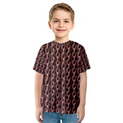 Chain Rusty Links Iron Metal Rust Kids  Sport Mesh Tee