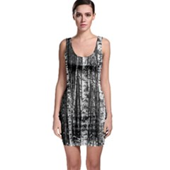 Birch Forest Trees Wood Natural Sleeveless Bodycon Dress