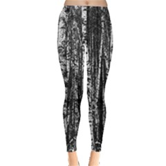 Birch Forest Trees Wood Natural Leggings