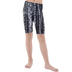 Birch Forest Trees Wood Natural Kids  Mid Length Swim Shorts