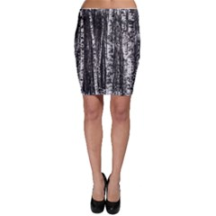 Birch Forest Trees Wood Natural Bodycon Skirt