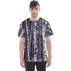 Birch Forest Trees Wood Natural Men s Sports Mesh Tee