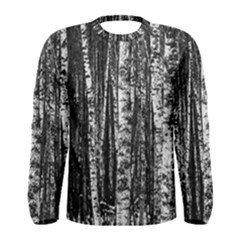 Birch Forest Trees Wood Natural Men s Long Sleeve Tee