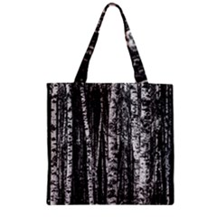 Birch Forest Trees Wood Natural Zipper Grocery Tote Bag