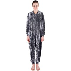 Birch Forest Trees Wood Natural Hooded Jumpsuit (Ladies)