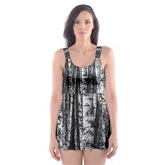 Birch Forest Trees Wood Natural Skater Dress Swimsuit