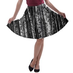 Birch Forest Trees Wood Natural A-line Skater Skirt