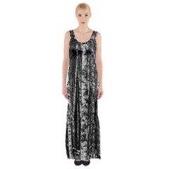 Birch Forest Trees Wood Natural Maxi Thigh Split Dress