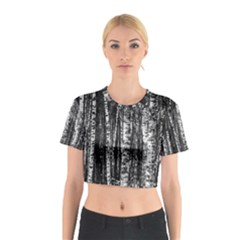 Birch Forest Trees Wood Natural Cotton Crop Top
