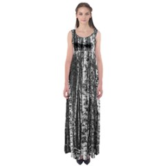 Birch Forest Trees Wood Natural Empire Waist Maxi Dress