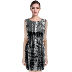 Birch Forest Trees Wood Natural Classic Sleeveless Midi Dress