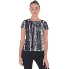 Birch Forest Trees Wood Natural Short Sleeve Sports Top