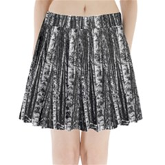 Birch Forest Trees Wood Natural Pleated Mini Skirt