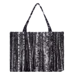 Birch Forest Trees Wood Natural Medium Tote Bag