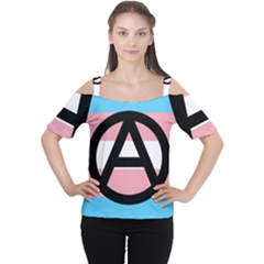 Anarchist Pride Women s Cutout Shoulder Tee