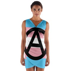 Anarchist Pride Wrap Front Bodycon Dress