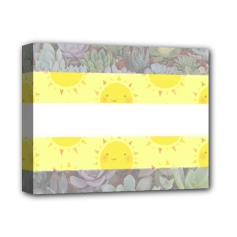 Nonbinary flag Deluxe Canvas 14  x 11