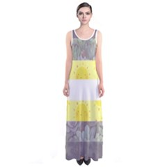 Nonbinary flag Sleeveless Maxi Dress