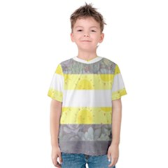 Nonbinary flag Kids  Cotton Tee