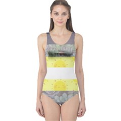 Nonbinary flag One Piece Swimsuit