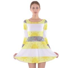 Nonbinary flag Long Sleeve Velvet Skater Dress