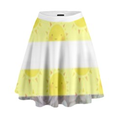 Nonbinary flag High Waist Skirt