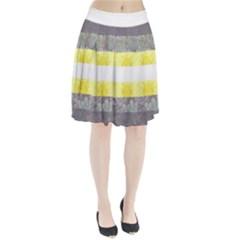 Nonbinary flag Pleated Skirt