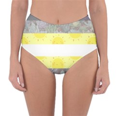 Cute Flag Reversible High Waist Bikini Bottoms