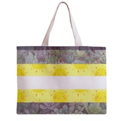 Cute Flag Medium Zipper Tote Bag