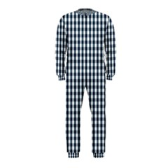 Silent Night Blue Large Gingham Check OnePiece Jumpsuit (Kids)