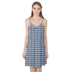 Silent Night Blue Large Gingham Check Camis Nightgown