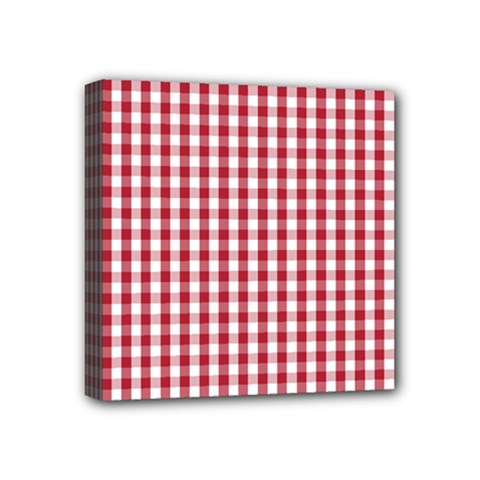 Usa Flag Red Blood Large Gingham Check Mini Canvas 4  x 4
