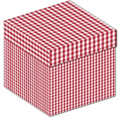 Usa Flag Red Blood Large Gingham Check Storage Stool 12