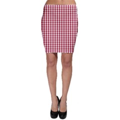 Usa Flag Red Blood Large Gingham Check Bodycon Skirt