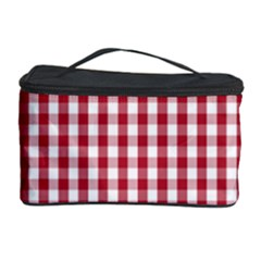 Usa Flag Red Blood Large Gingham Check Cosmetic Storage Case