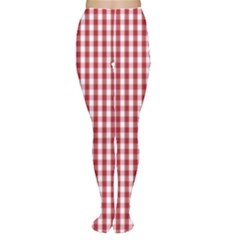 Usa Flag Red Blood Large Gingham Check Women s Tights