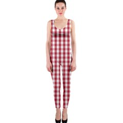 Usa Flag Red Blood Large Gingham Check OnePiece Catsuit