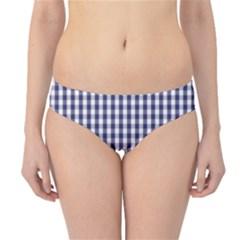 USA Flag Blue Large Gingham Check Plaid  Hipster Bikini Bottoms