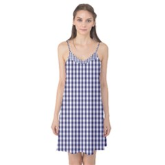 USA Flag Blue Large Gingham Check Plaid  Camis Nightgown