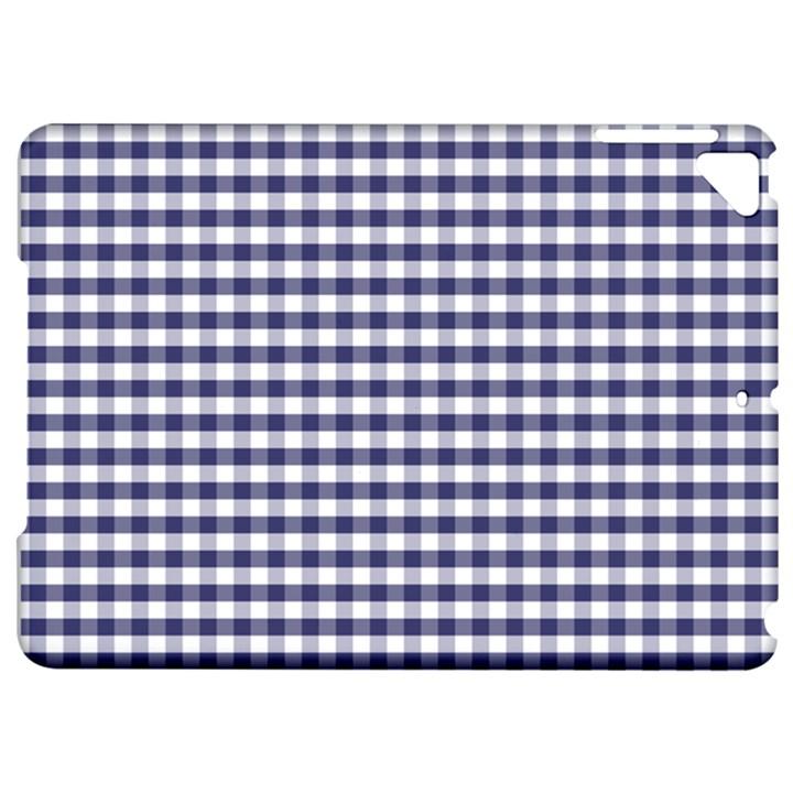 USA Flag Blue Large Gingham Check Plaid  Apple iPad Pro 9.7   Hardshell Case