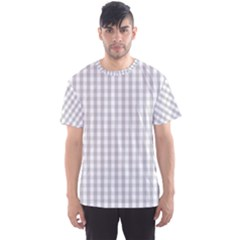 Christmas Silver Gingham Check Plaid Men s Sports Mesh Tee