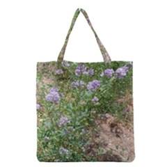 Purple Wildflowers Grocery Tote Bag
