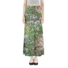Purple Wildflowers Full Length Maxi Skirt